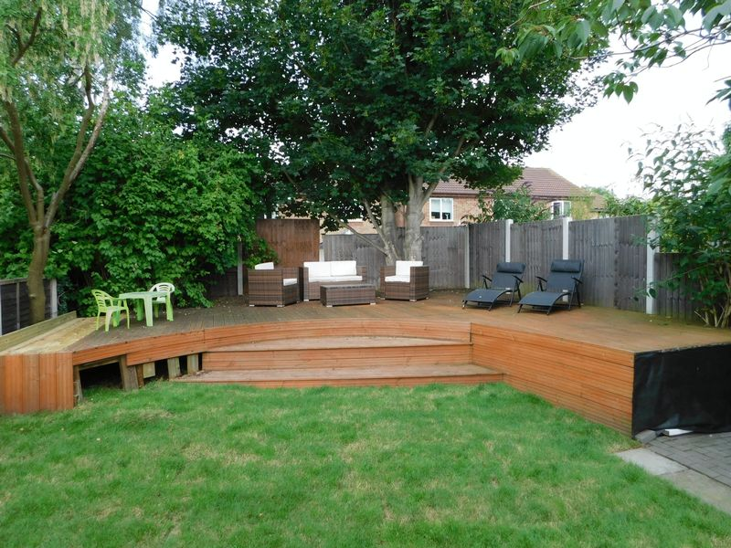 Raised Decked Seating Area