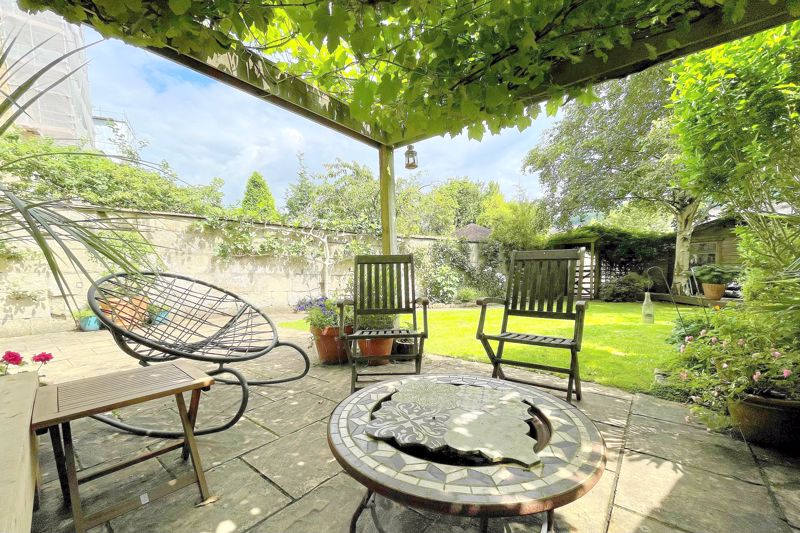 Grapevine covered patio