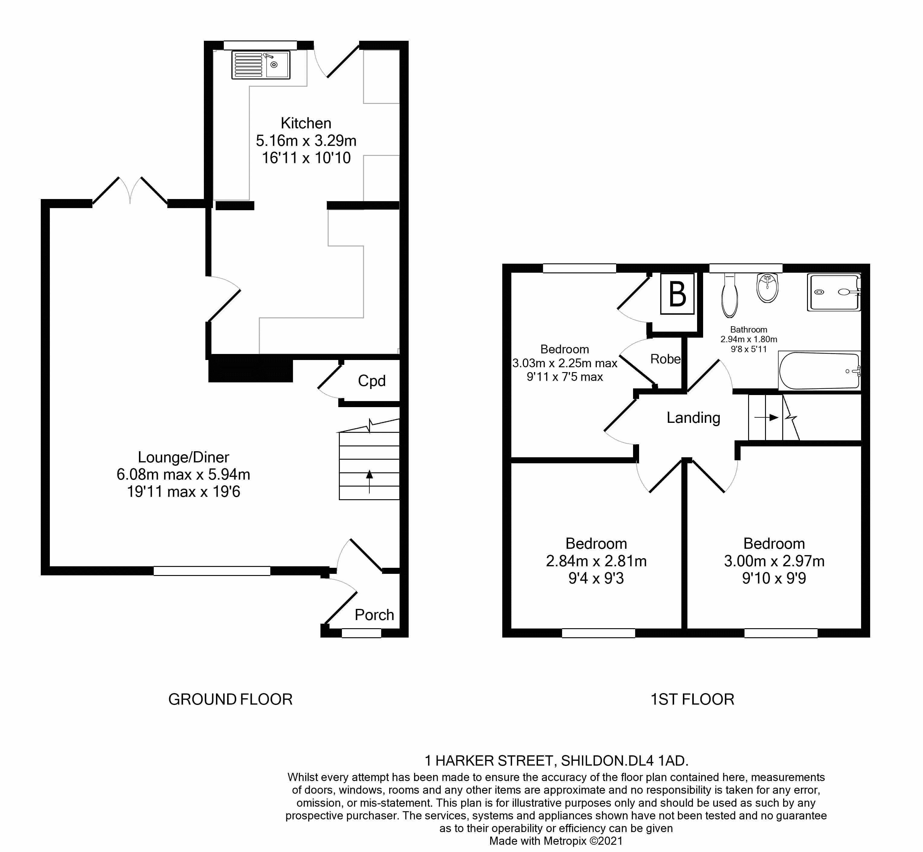 1 Harker Street Floorplan