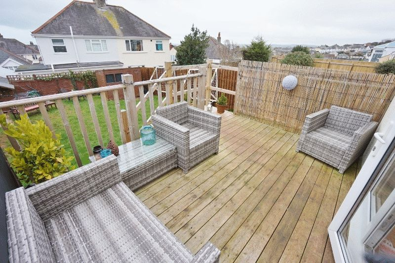 Rear garden & decking area