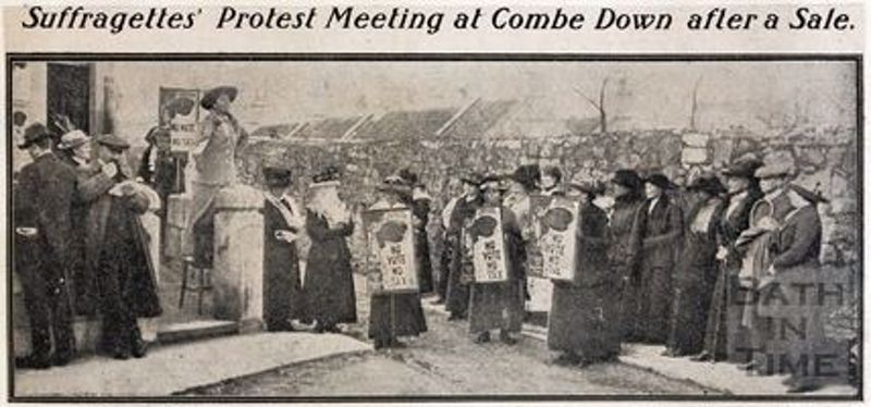 Suffragettes Protest Meeting