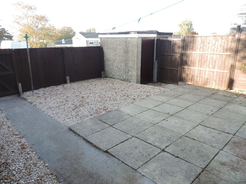 Rear Shed and Patio