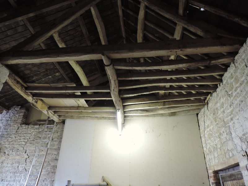 Attached Barn Roof Beams