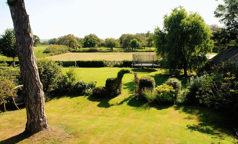 The garden and paddock