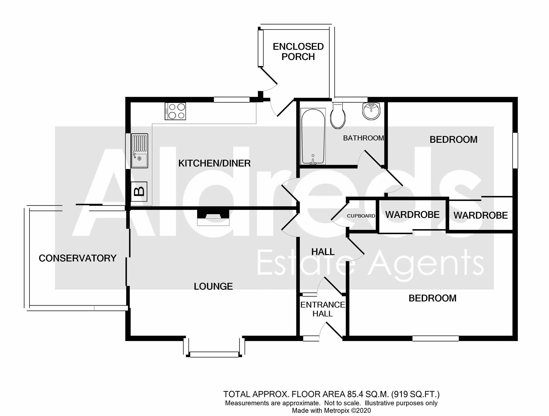 Black and White Floorplan