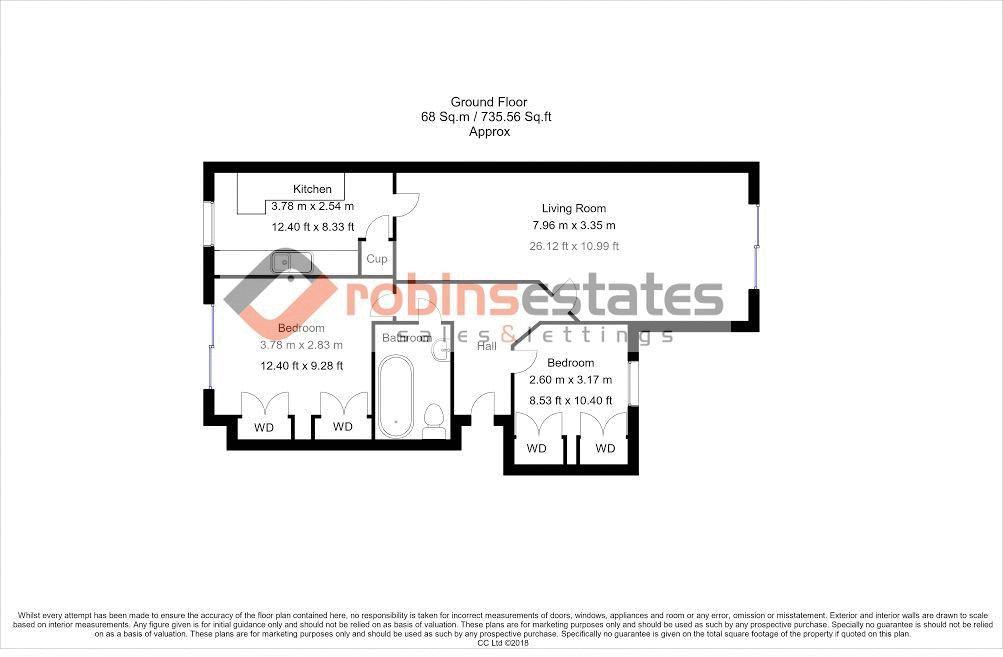 Floorplan with measurements