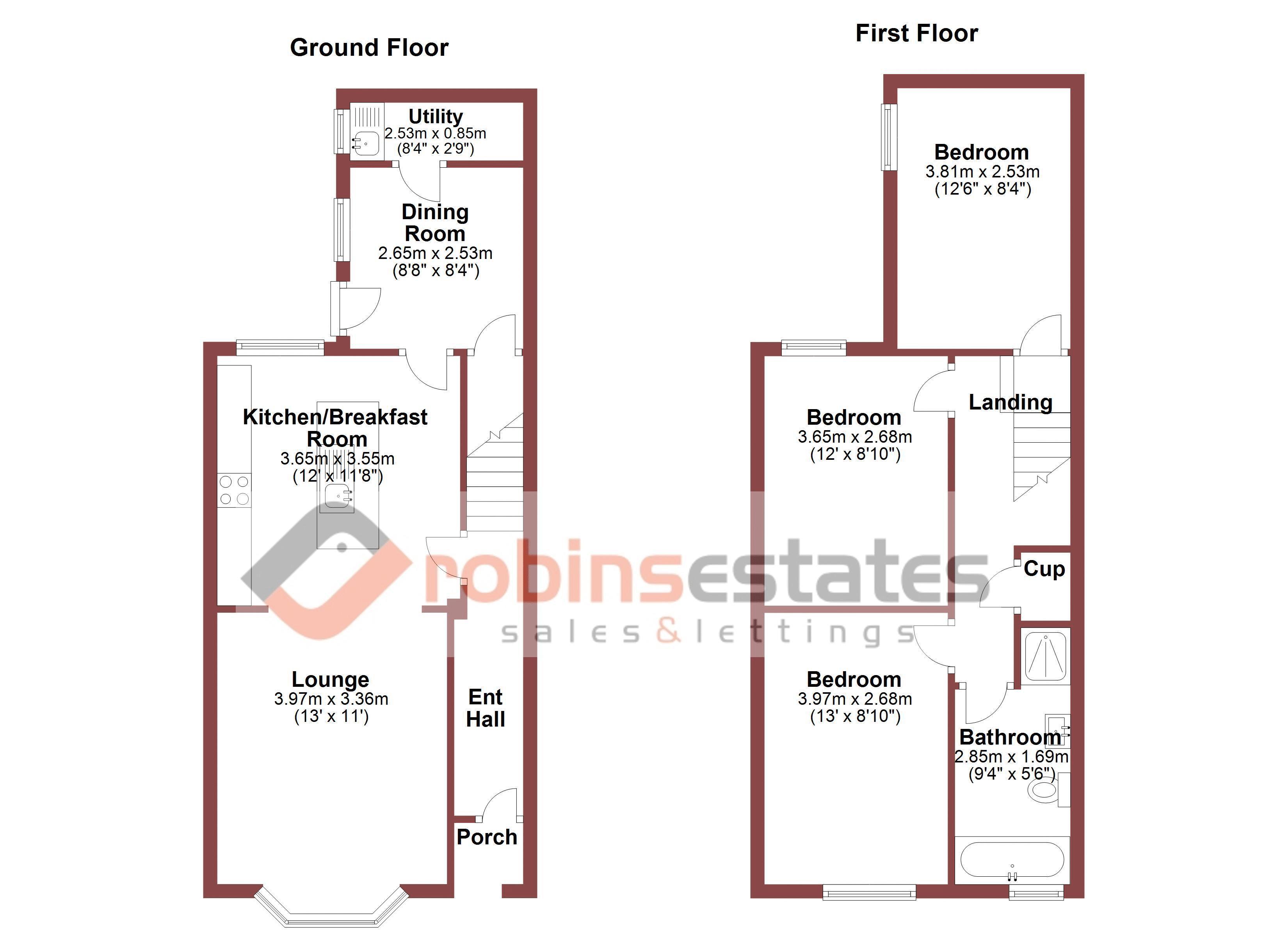 Floor Plan of Edward Street