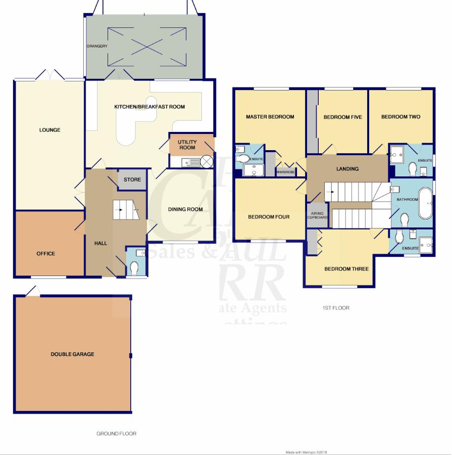 floorplan for 1 Elford Close