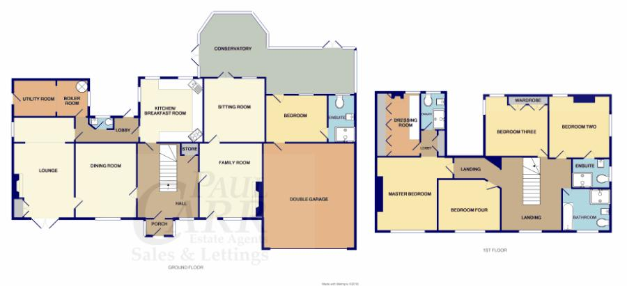 floorplan for Ivy Cottage