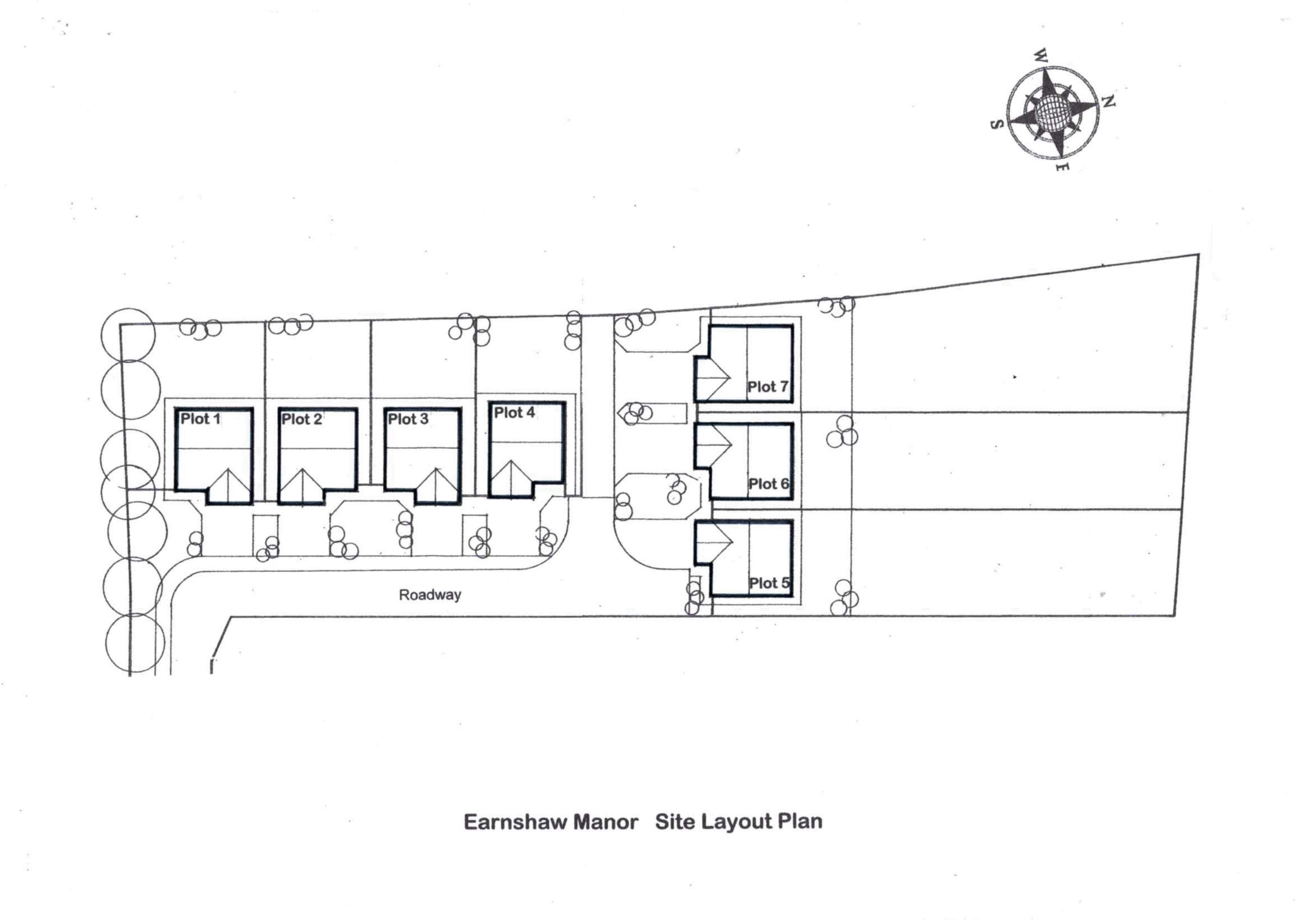 THE LAYOUT OF THE 7 NEW HOMES