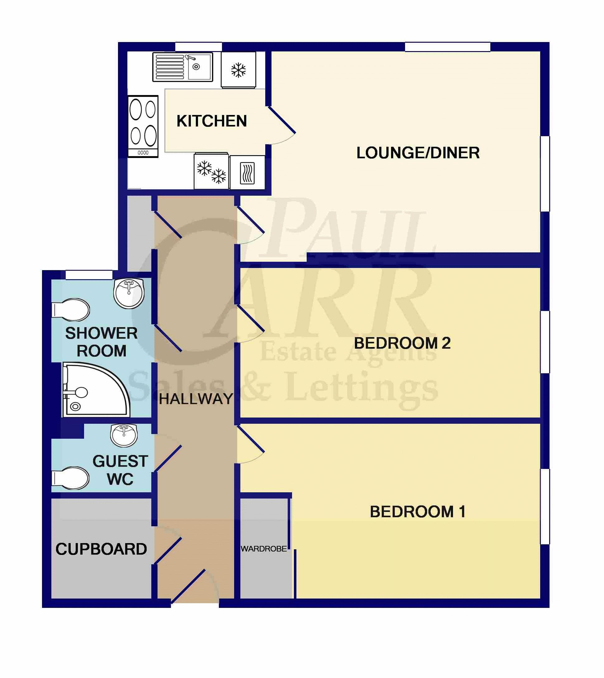 Floorplan Flat 15 Steepe Lodge