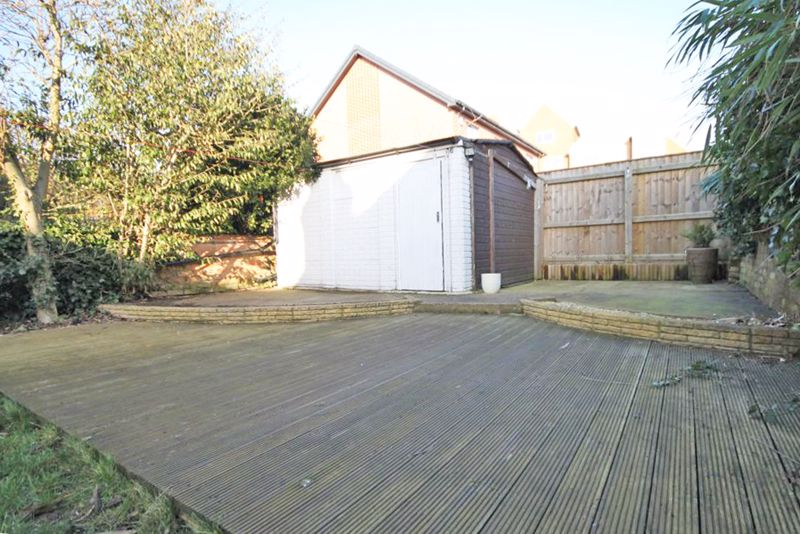 Raised decking and shed