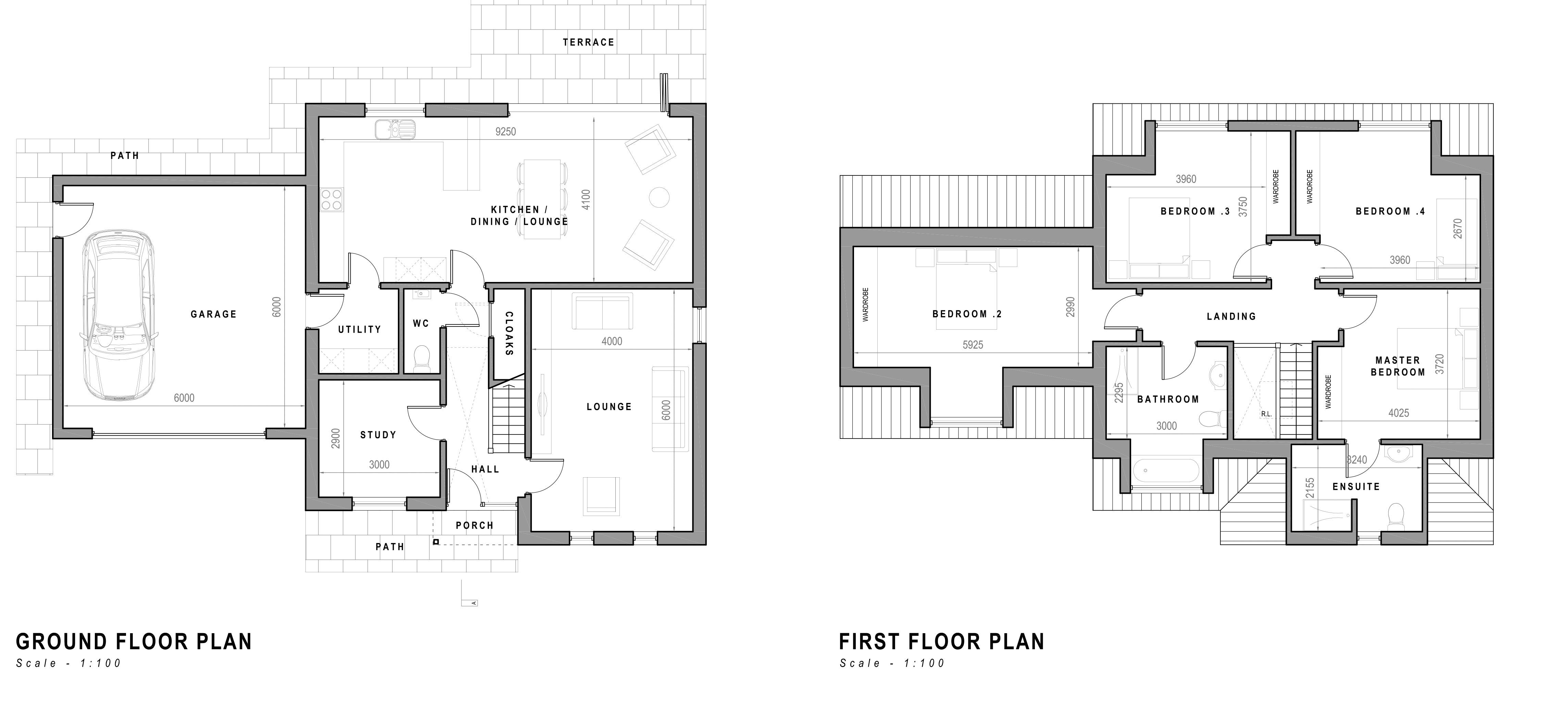 Rear of 41 Floor plan