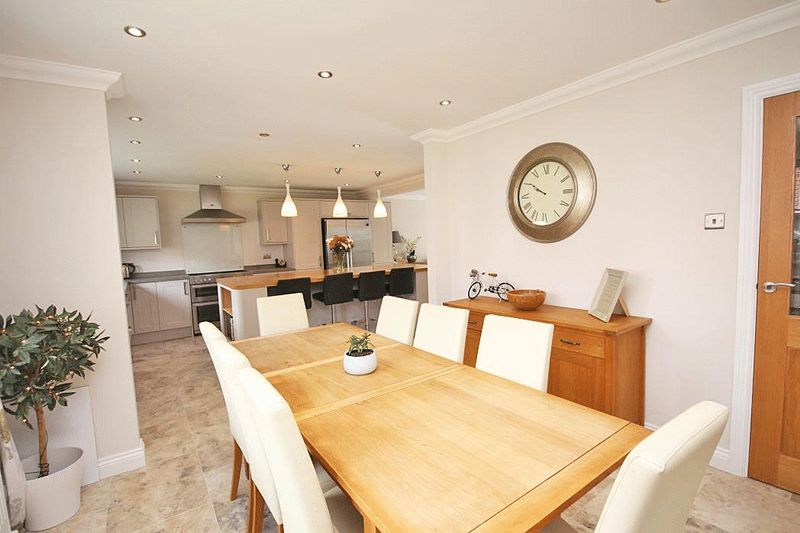 Open plan kitchen-living-dining area view 9