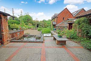 Garden with ornamental ponds