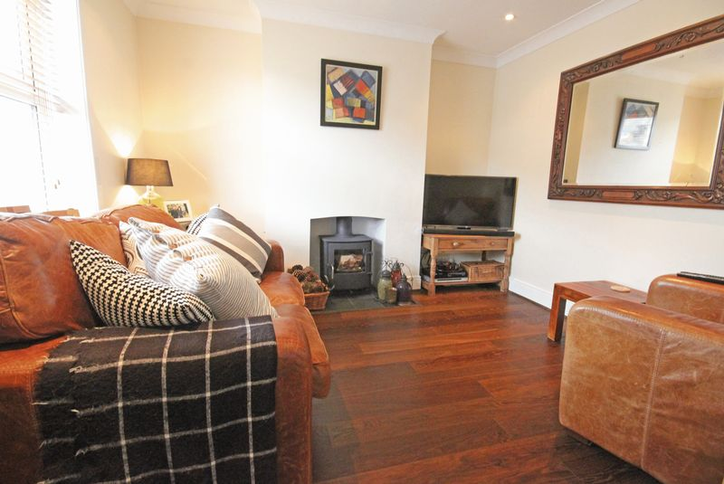 Sitting room with wood burning stove