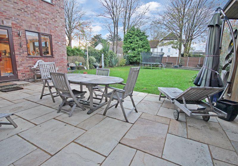 Patio with south facing garden