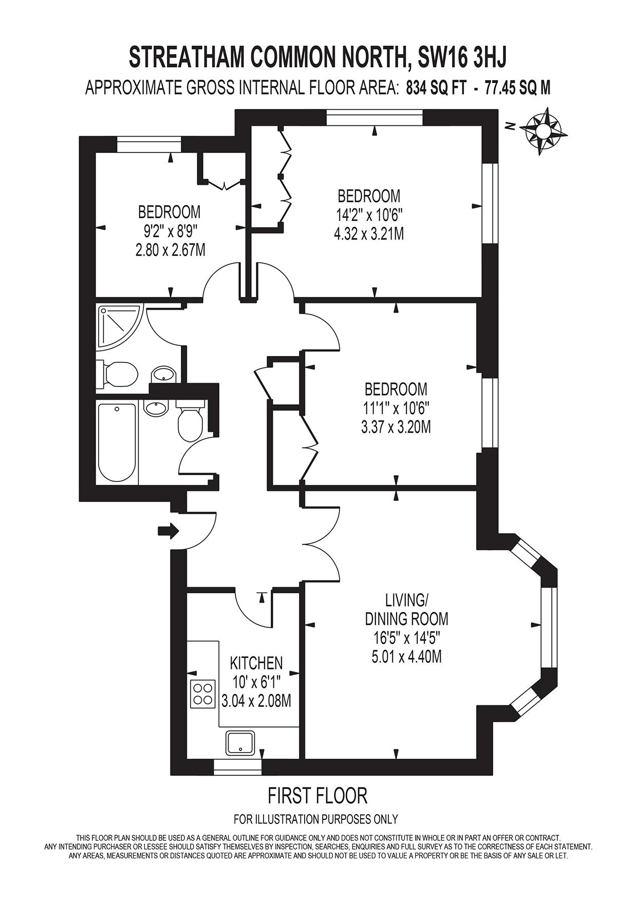 Floorplan- 11, 21 Streatham Common North