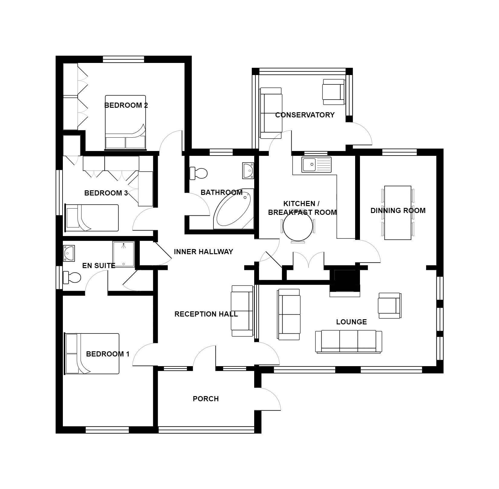 Floor plan of 5 Purn Lane.