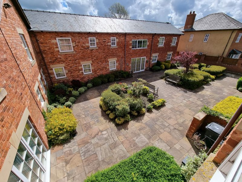 Elevated View of Courtyard