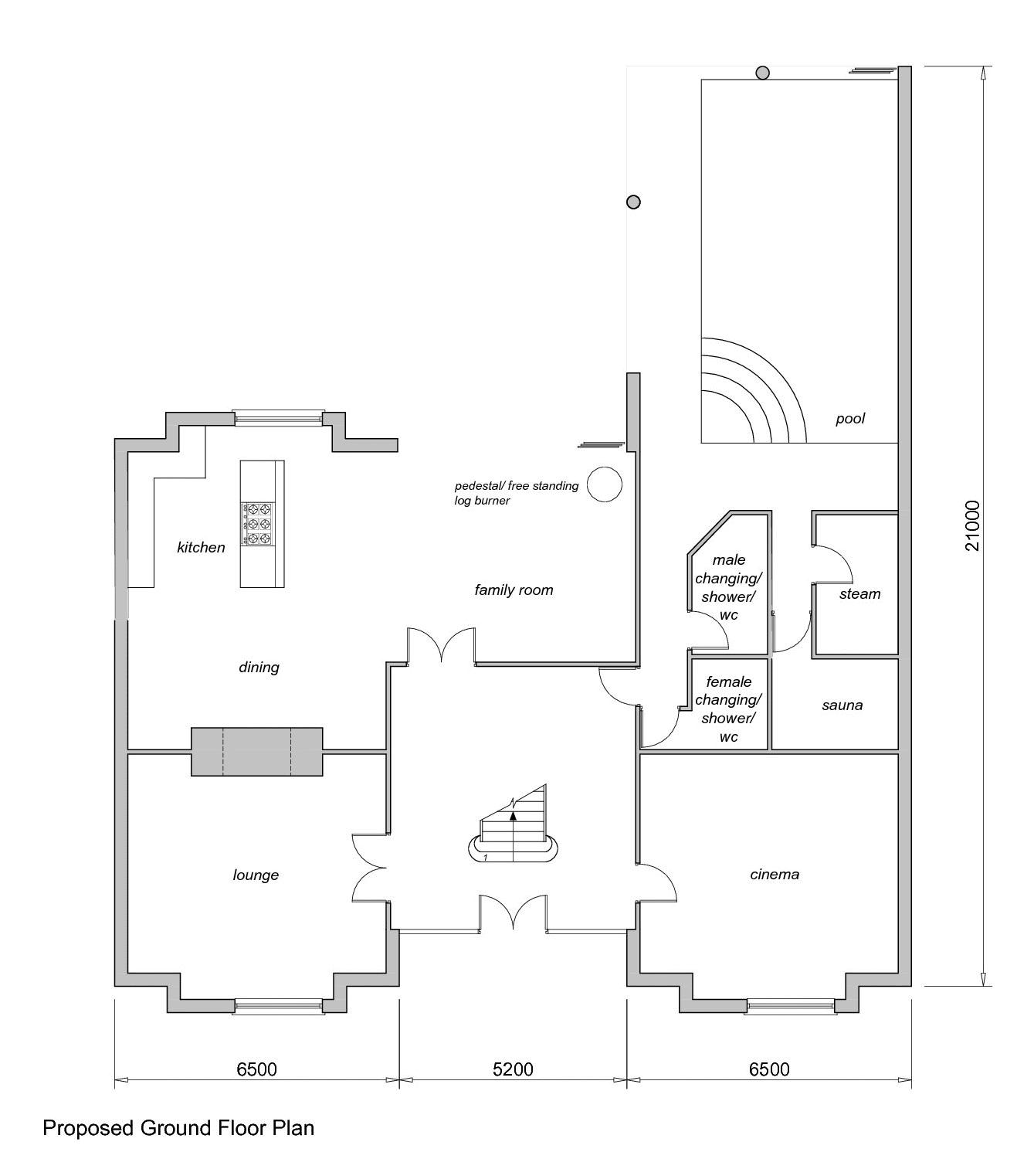 Proposed Ground Floor Plans