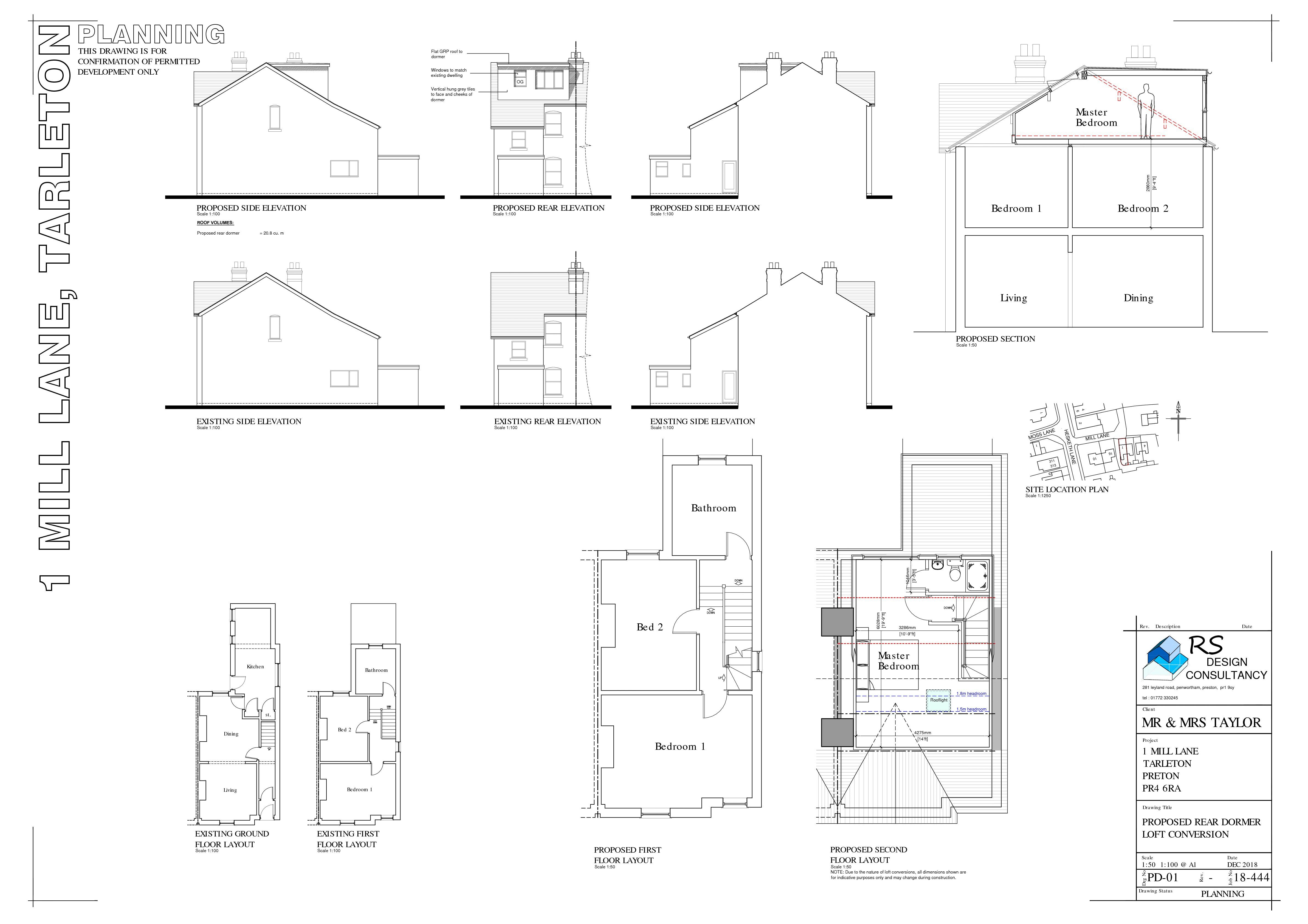 Plans for Loft Conversion