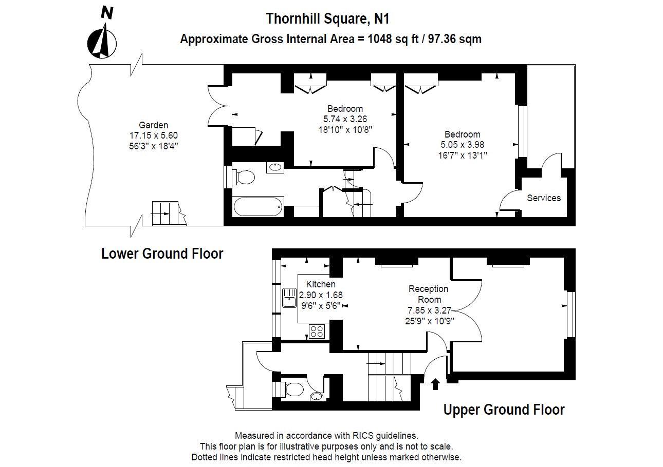 51a Thornhill Square - Floorplan