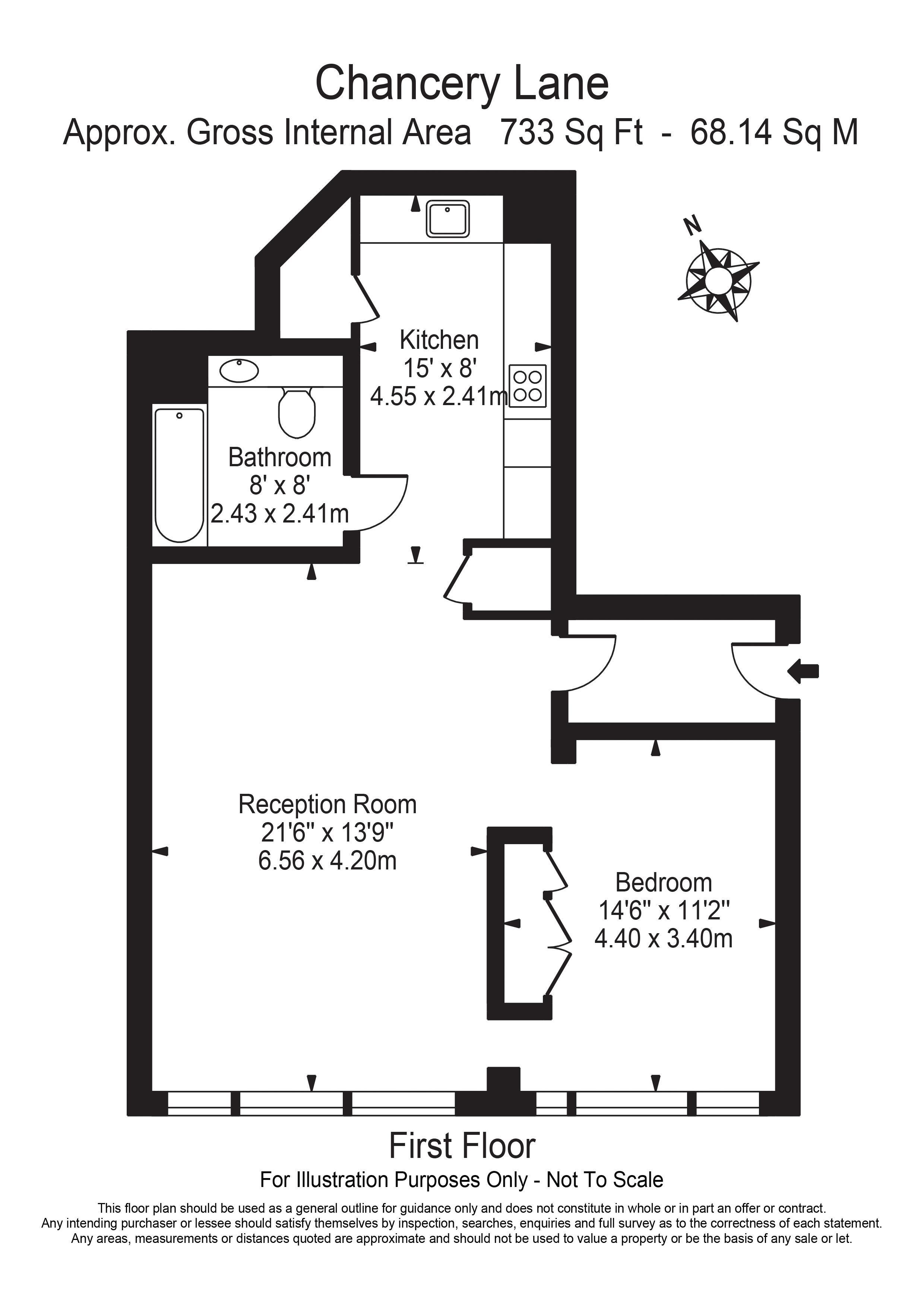 Floorplan - Flat 2, 68 Chancery Lane