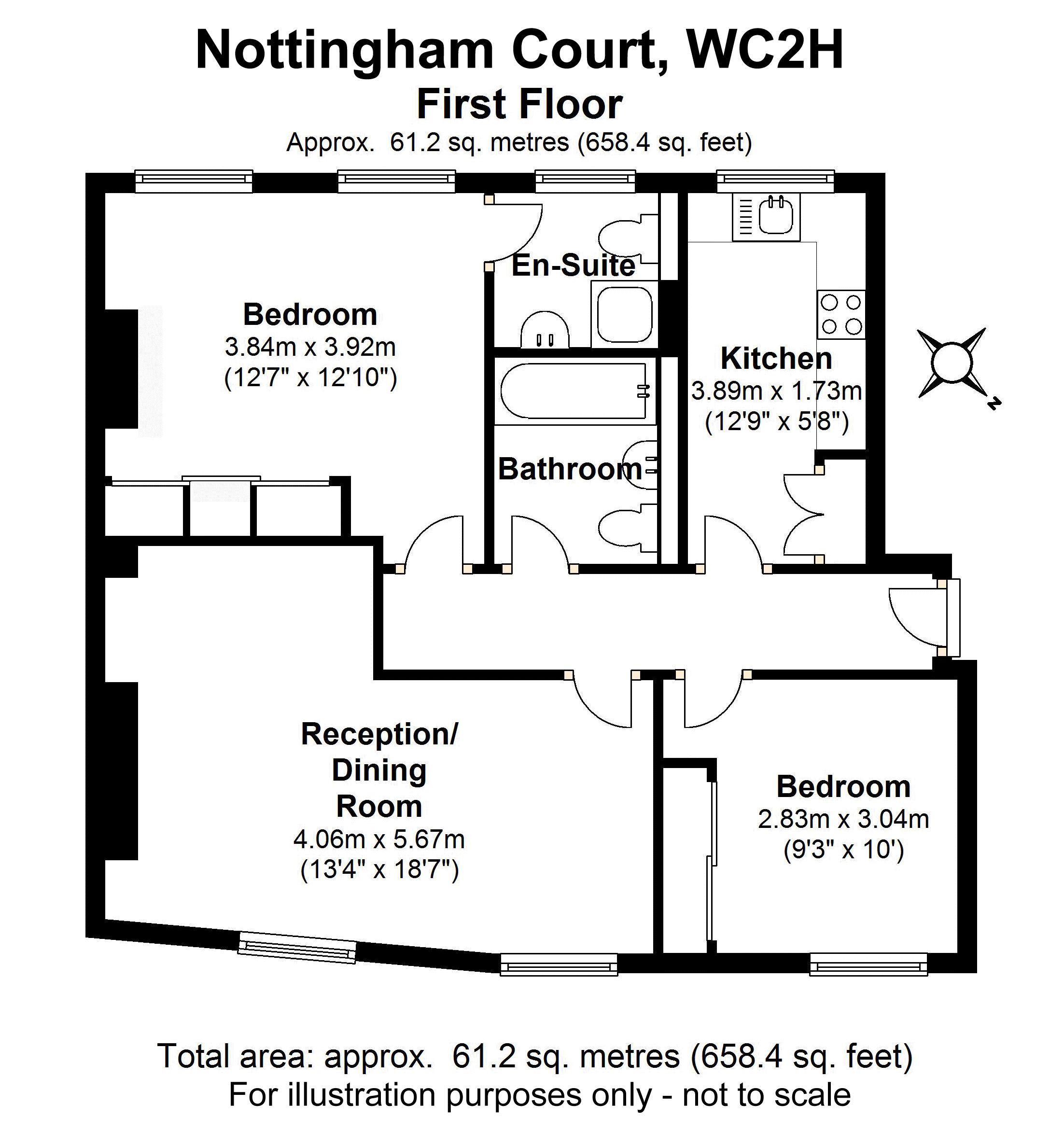 Flat 3, 4 Nottingham Court - Floorplan