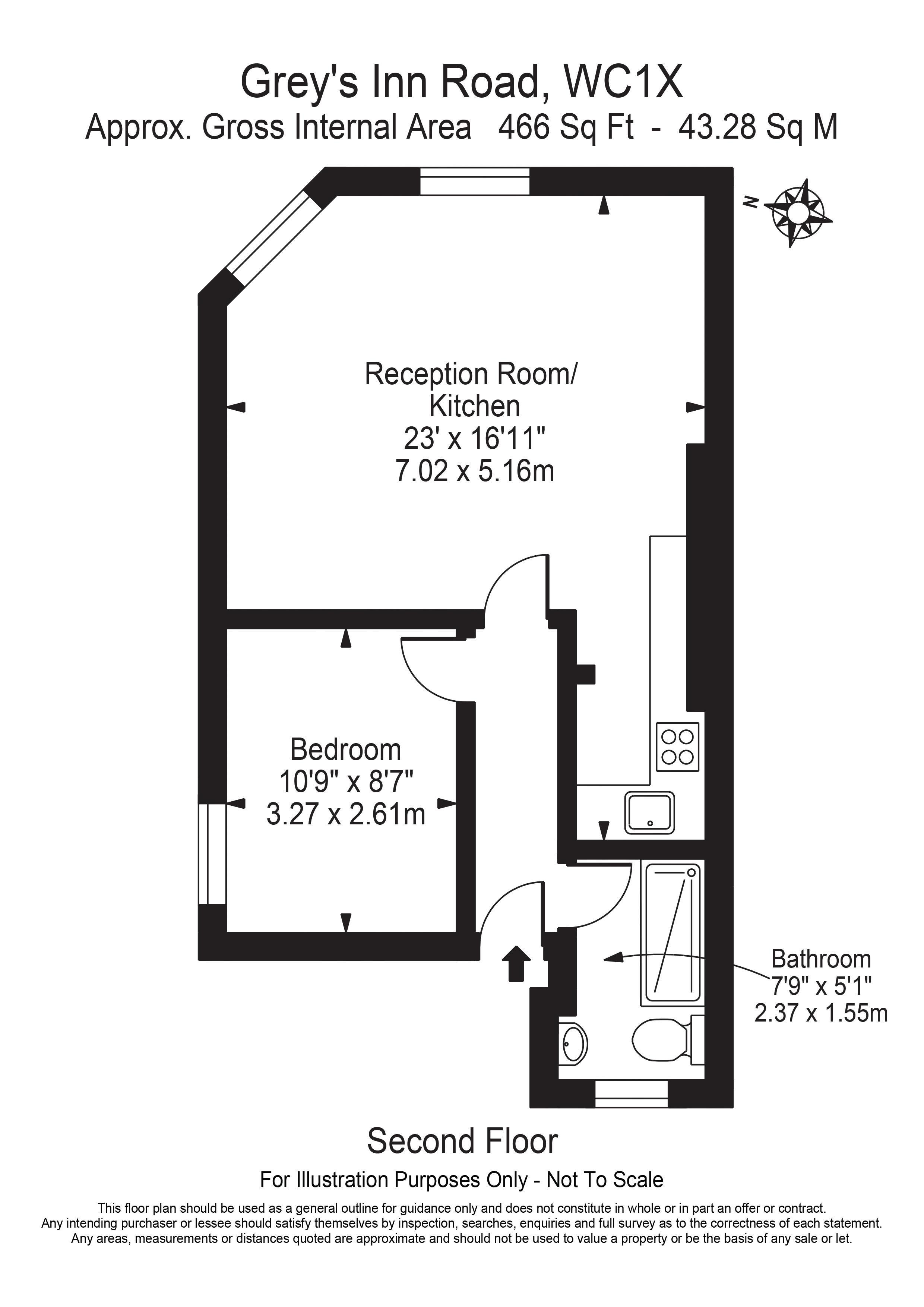 Floorplan - 2, 57A Gray's Inn Road