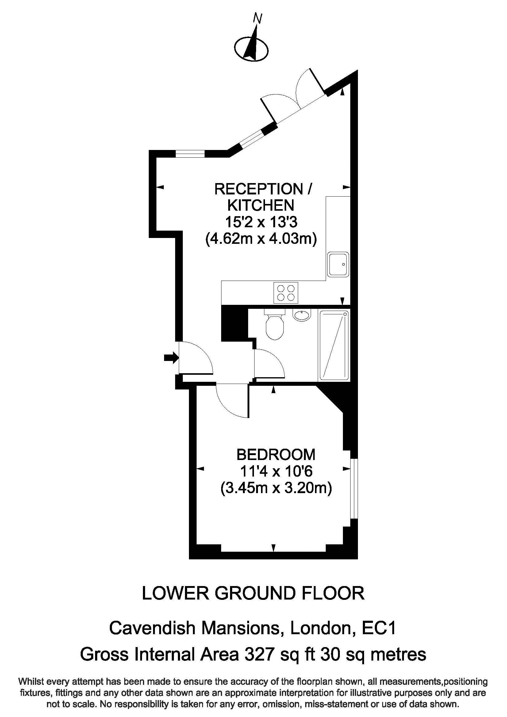 Floorplan - 2 Cavendish Mansions