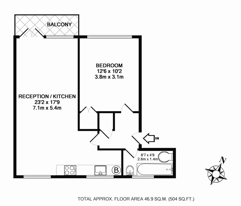 Floorplan - Flat F Guilford Court