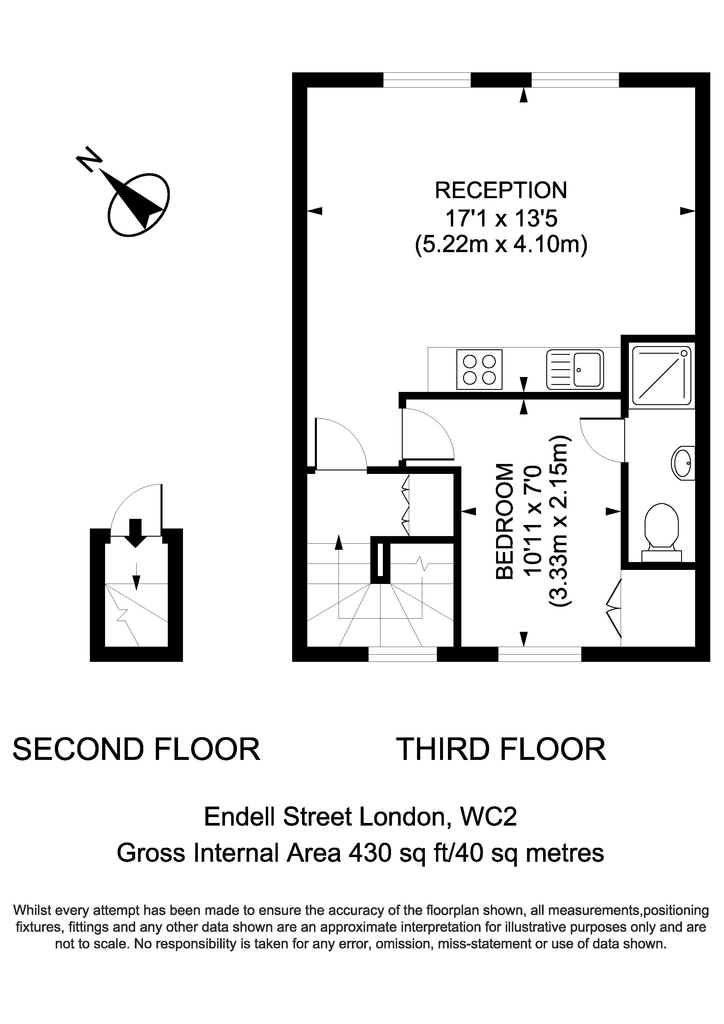 Flat 4, 27 Endell Street - Floorplan