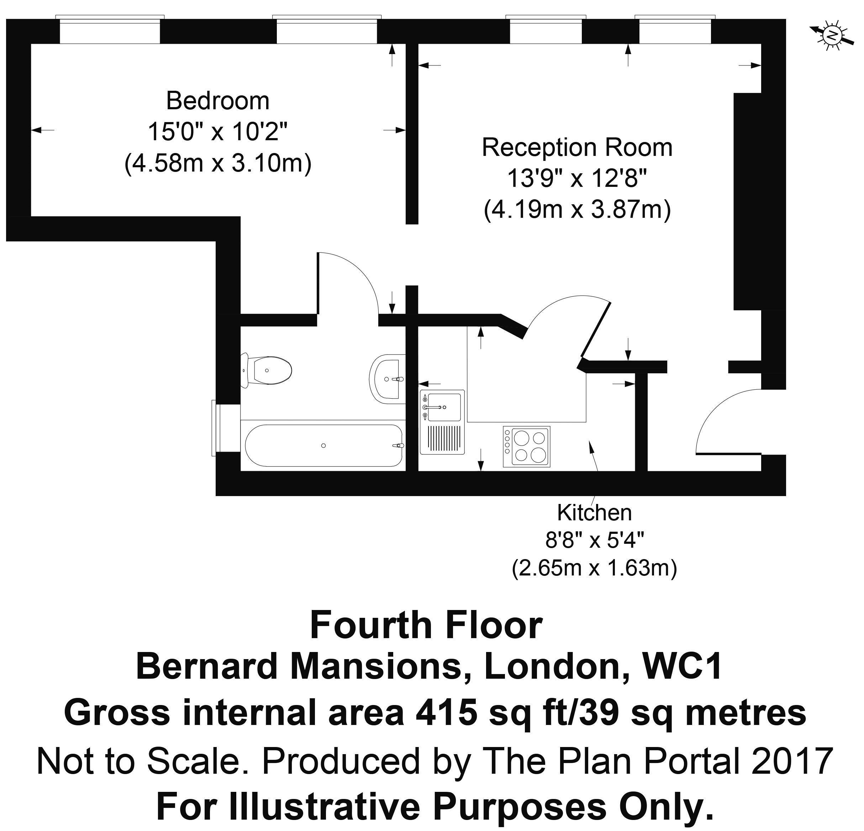 Floorplan - 12 Bernard Mansions
