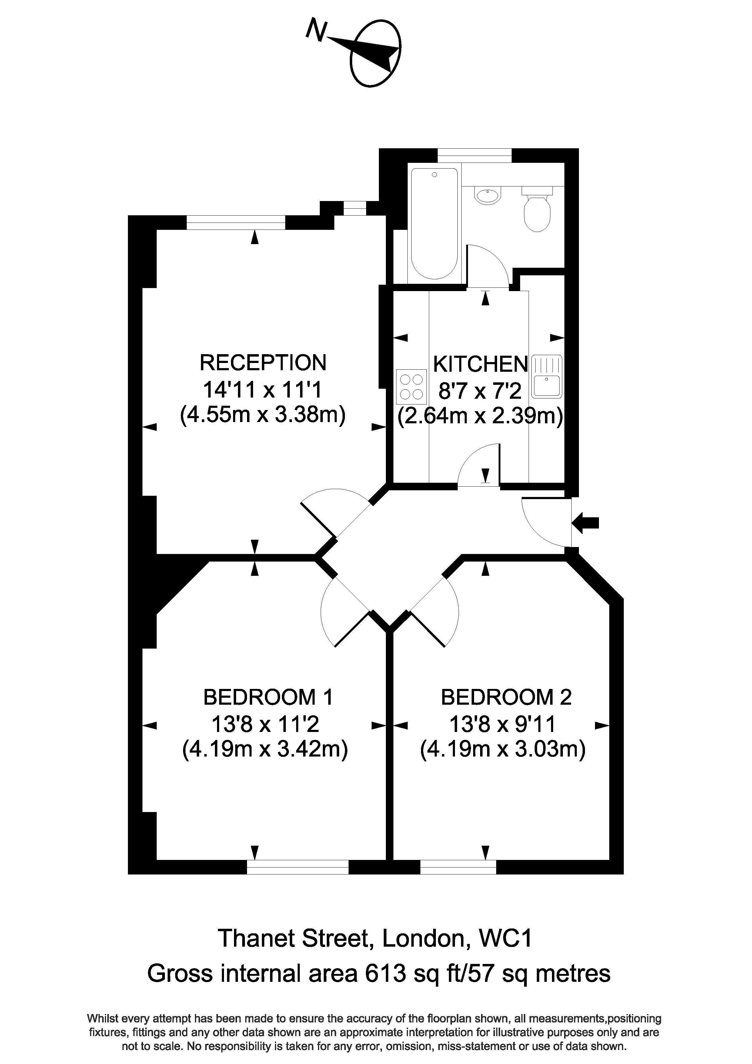 96 Thanet House - Floorplan