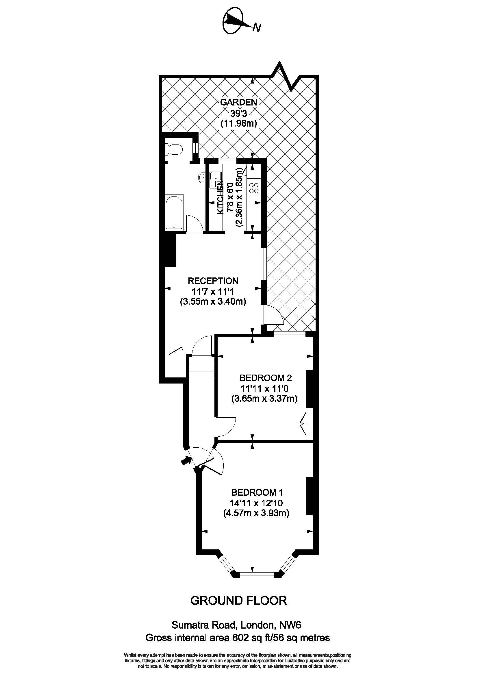 43 Sumatra Road - Floorplan