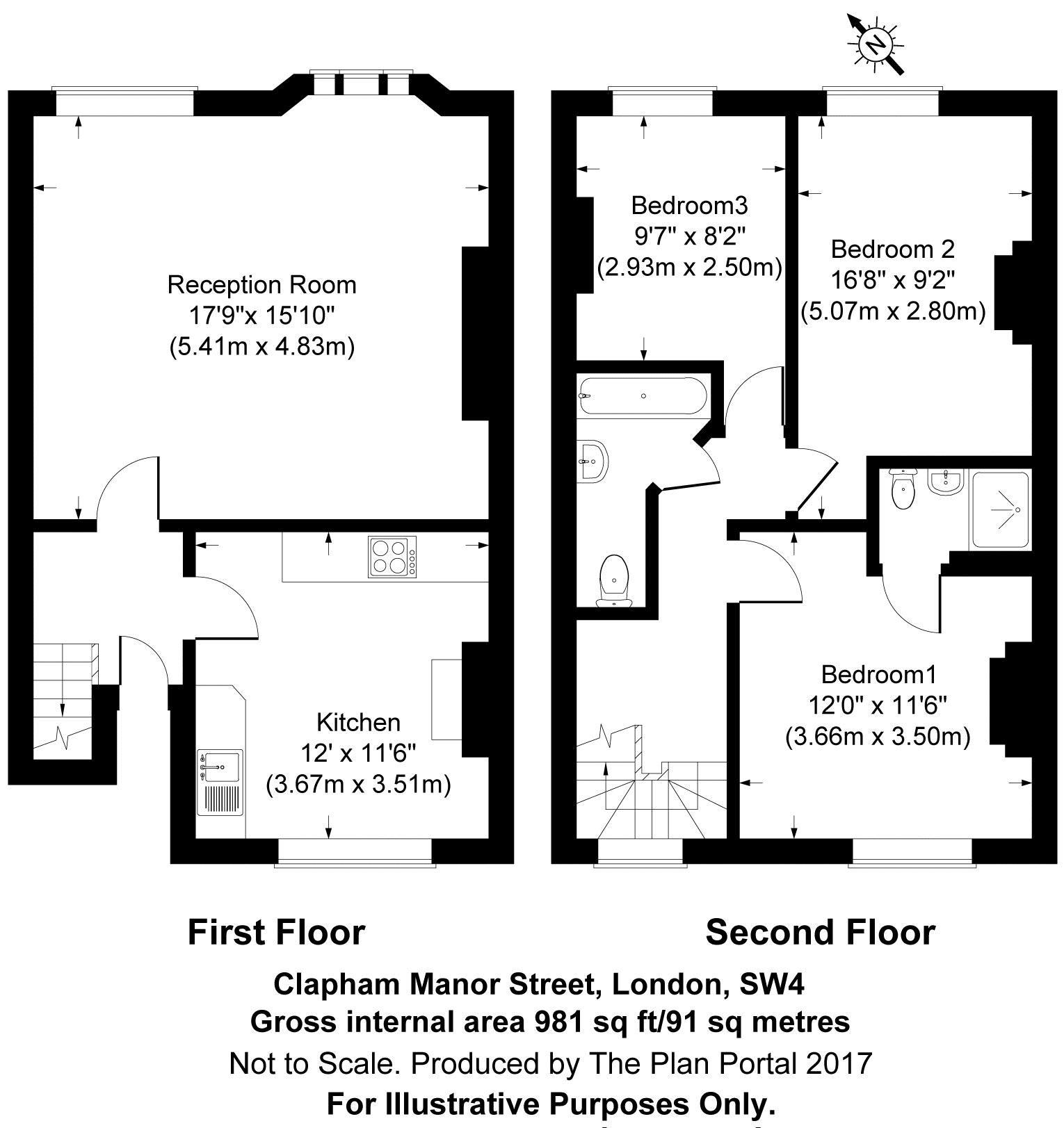 Floorplan - 66a Clapham Manor Street