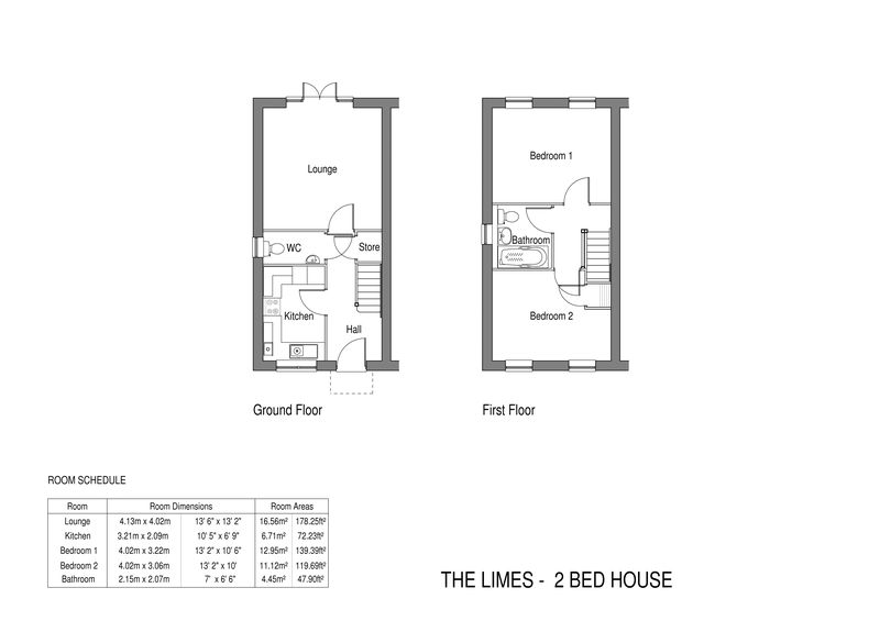 The Limes - 2 bed semi-detached