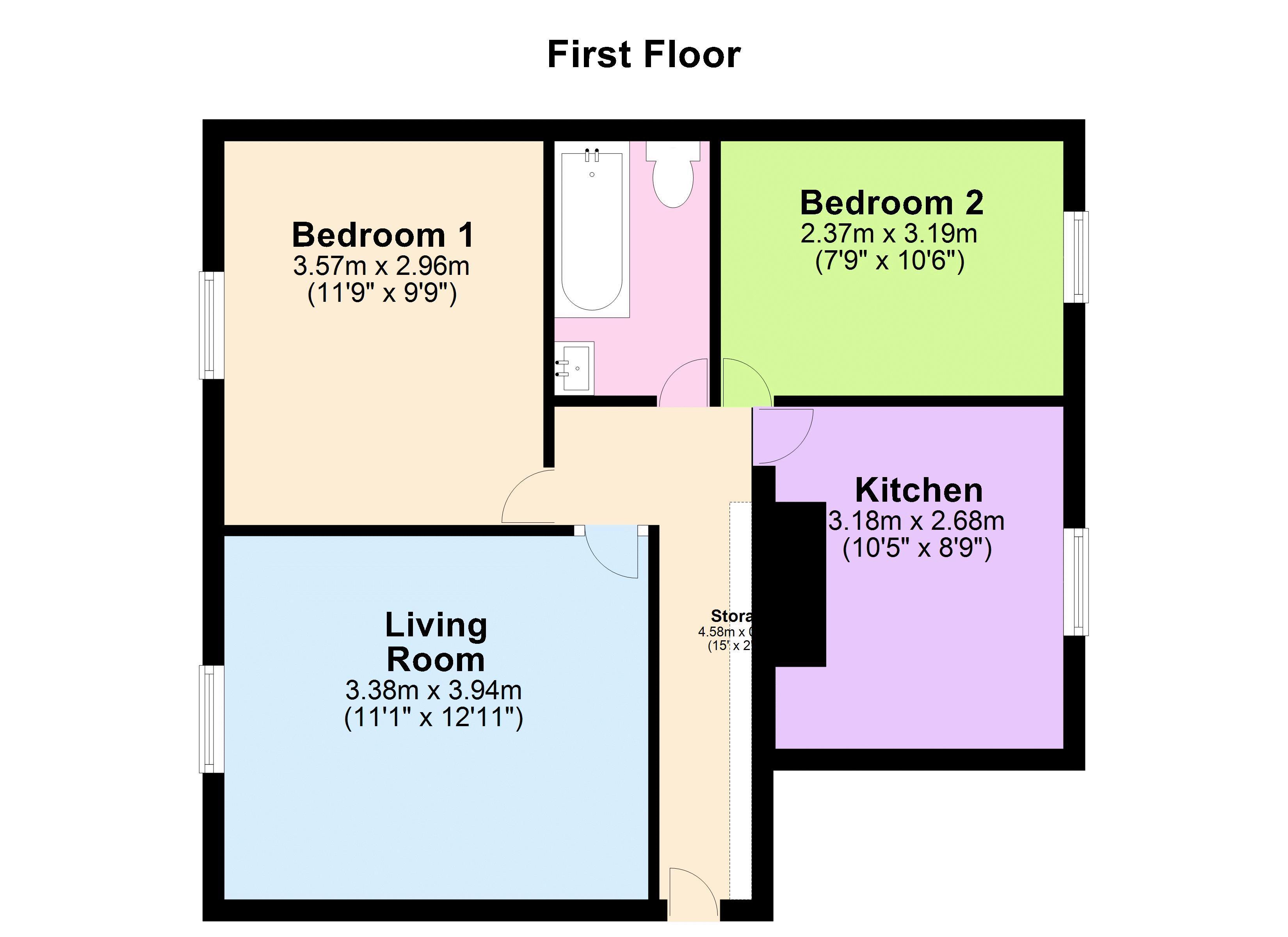 Flat 2, Anchor Court