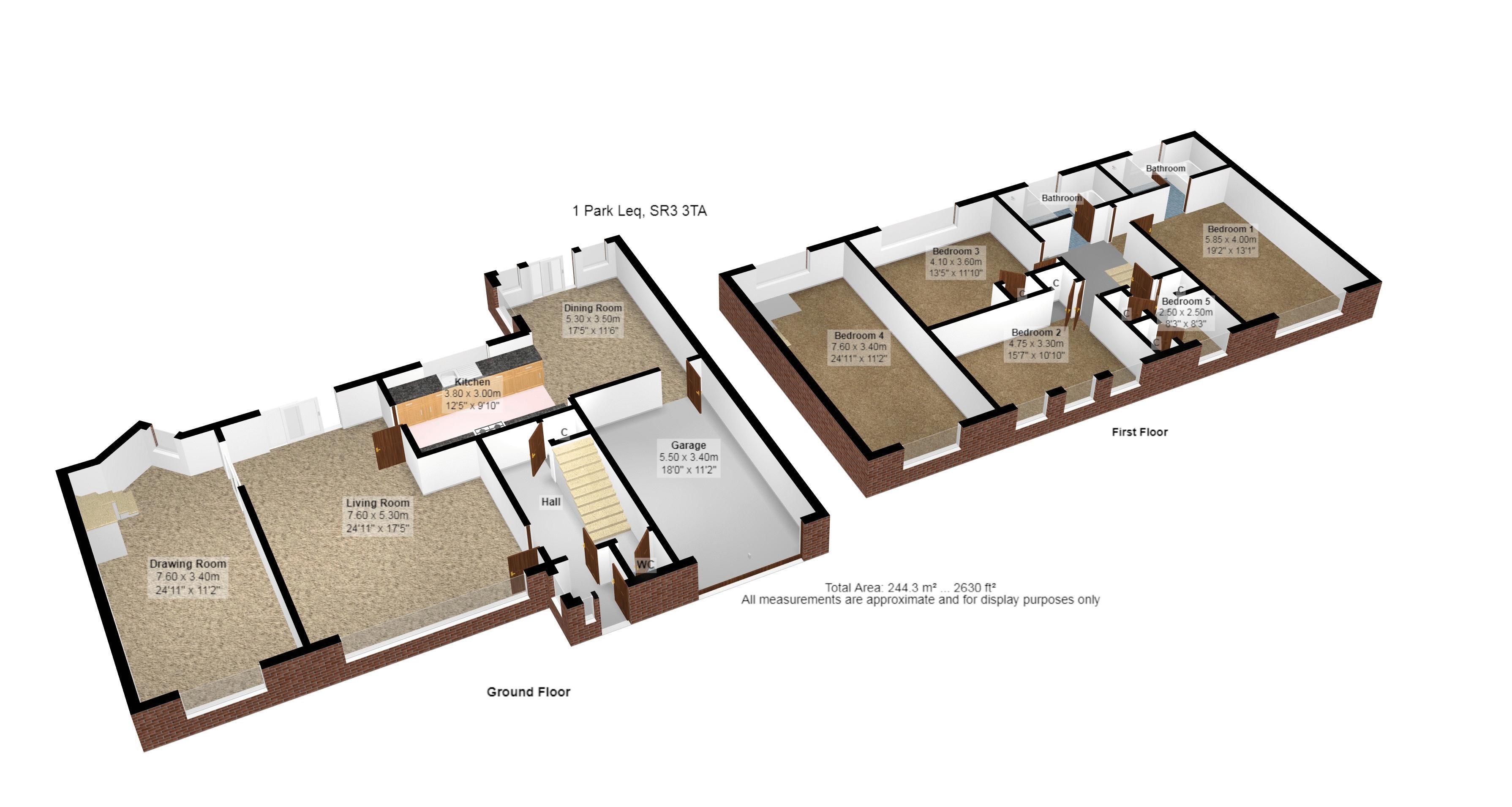 3D Floor Plan 1