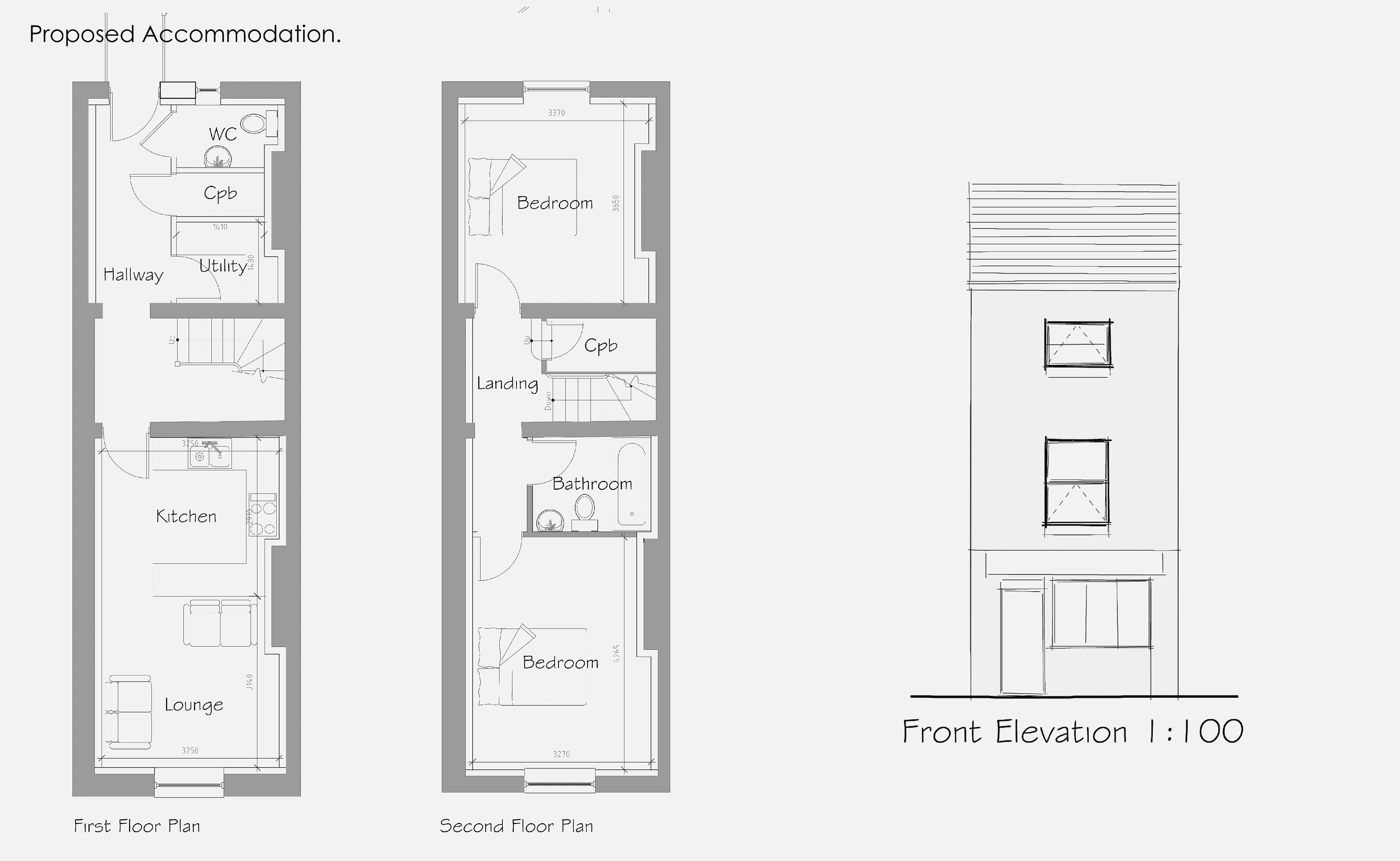 Proposed - First and Second Floors