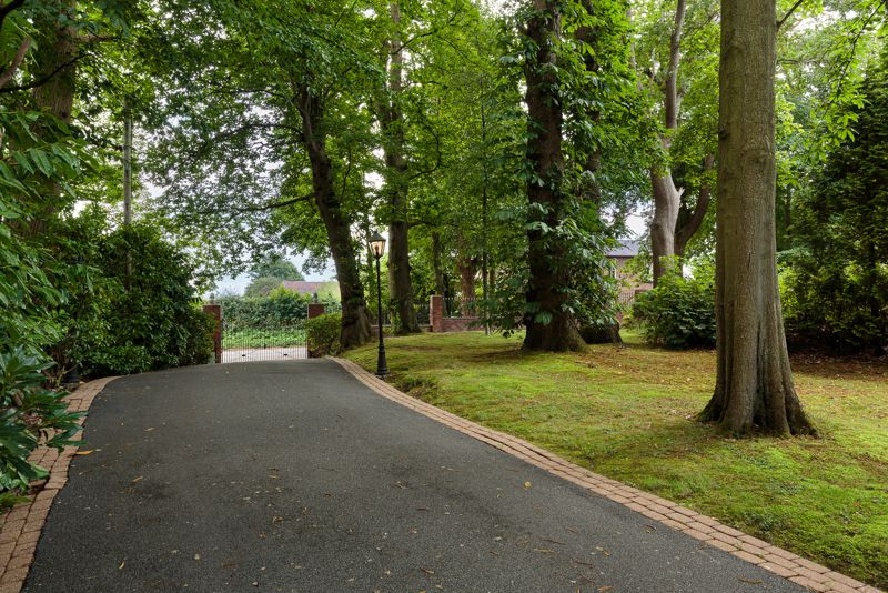 Driveway and Gated Entrance