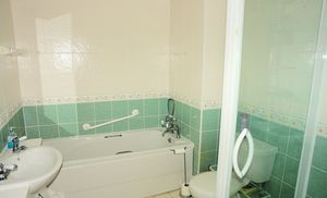 Bathroom with shower too