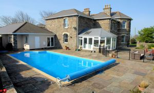 Pool terrace and changing