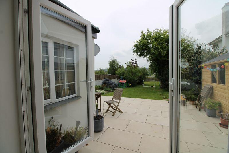 Doors to sun terrace and garden