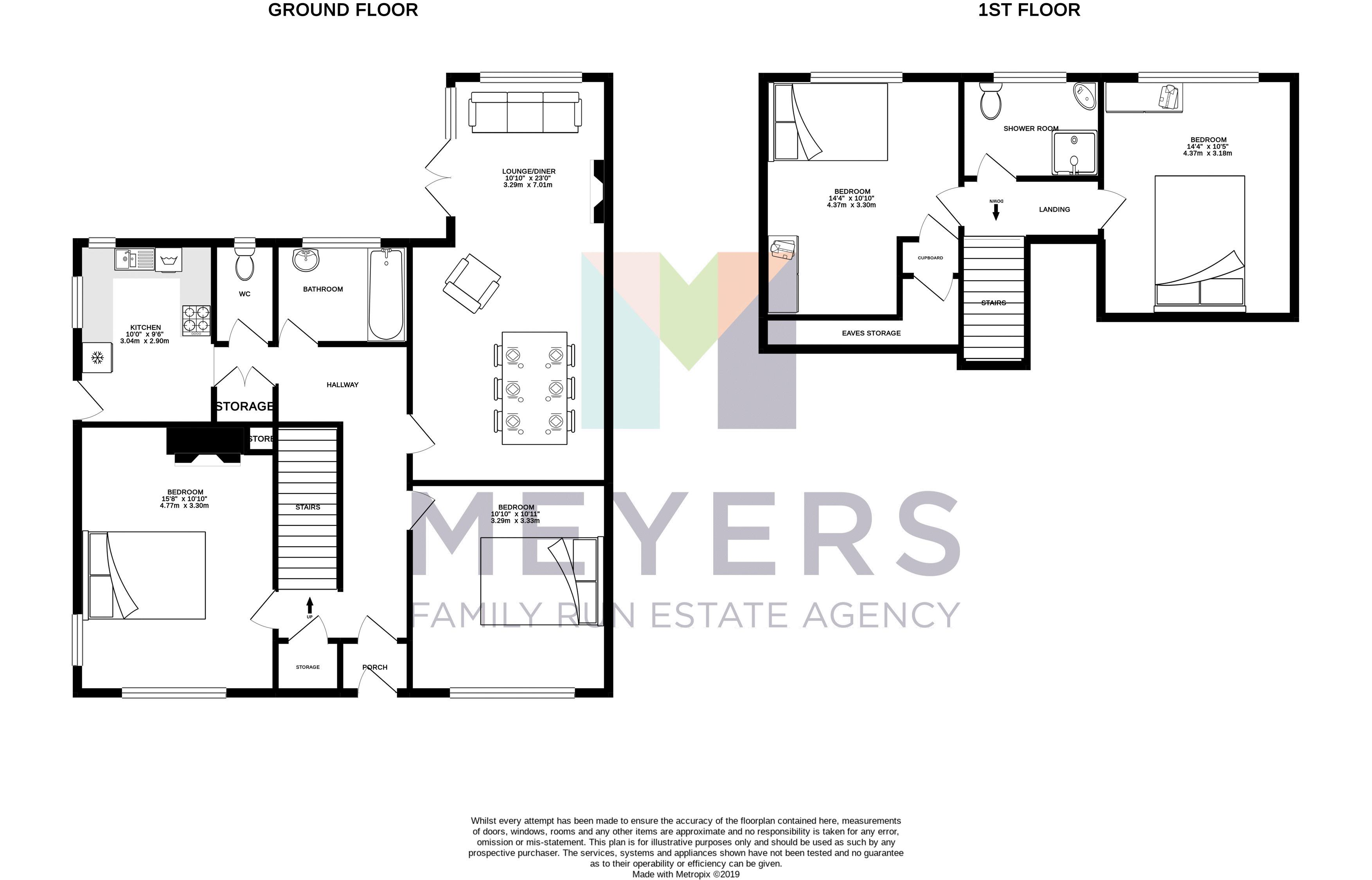 Black & White Floorplan