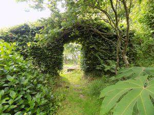 Archway Entrance to Mediterranean Garden