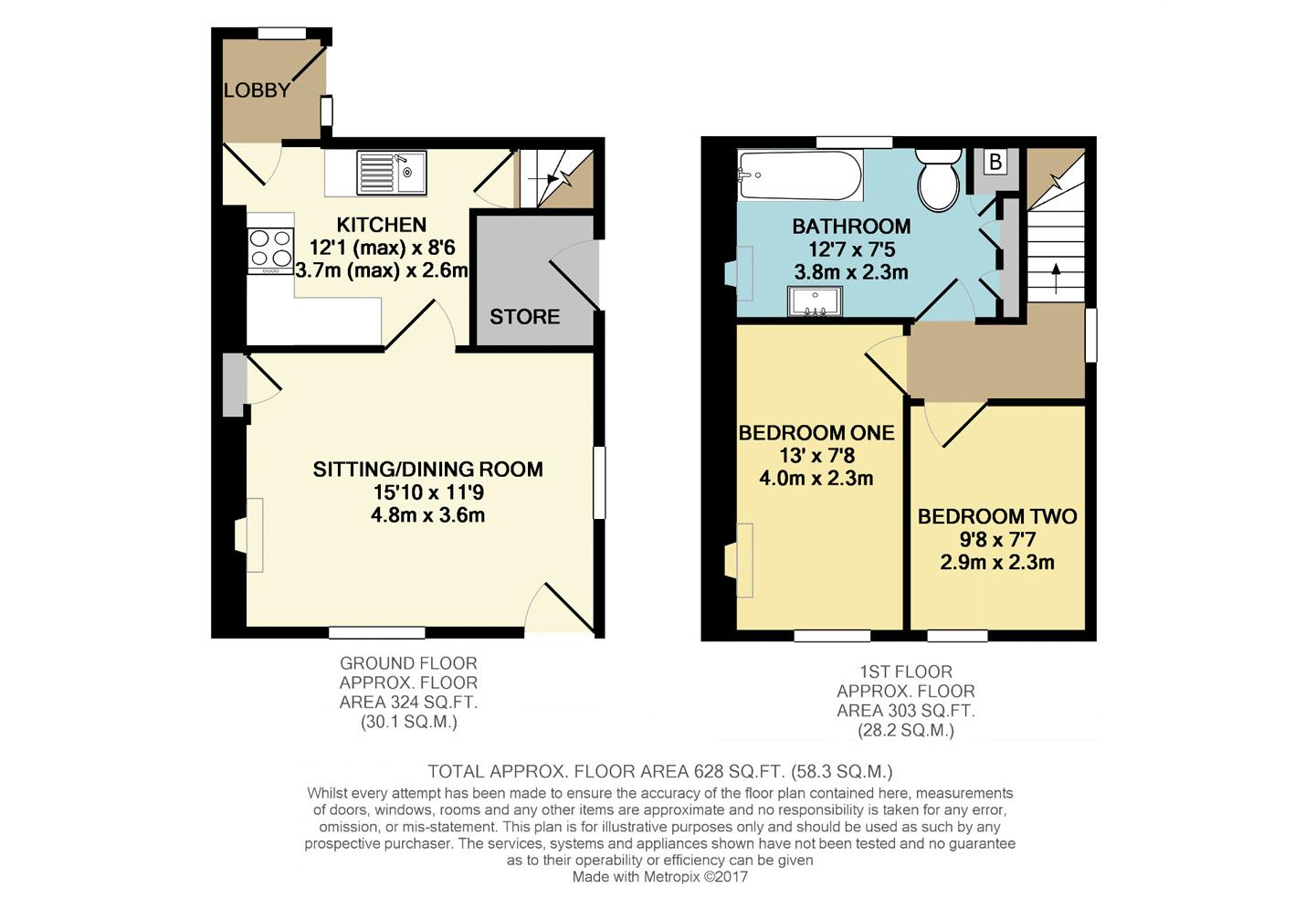 Horton Cottages Floor Plan