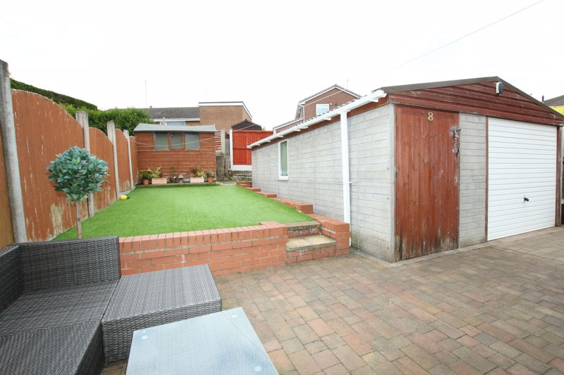 Rear Garden & Generous Garage/Workshop
