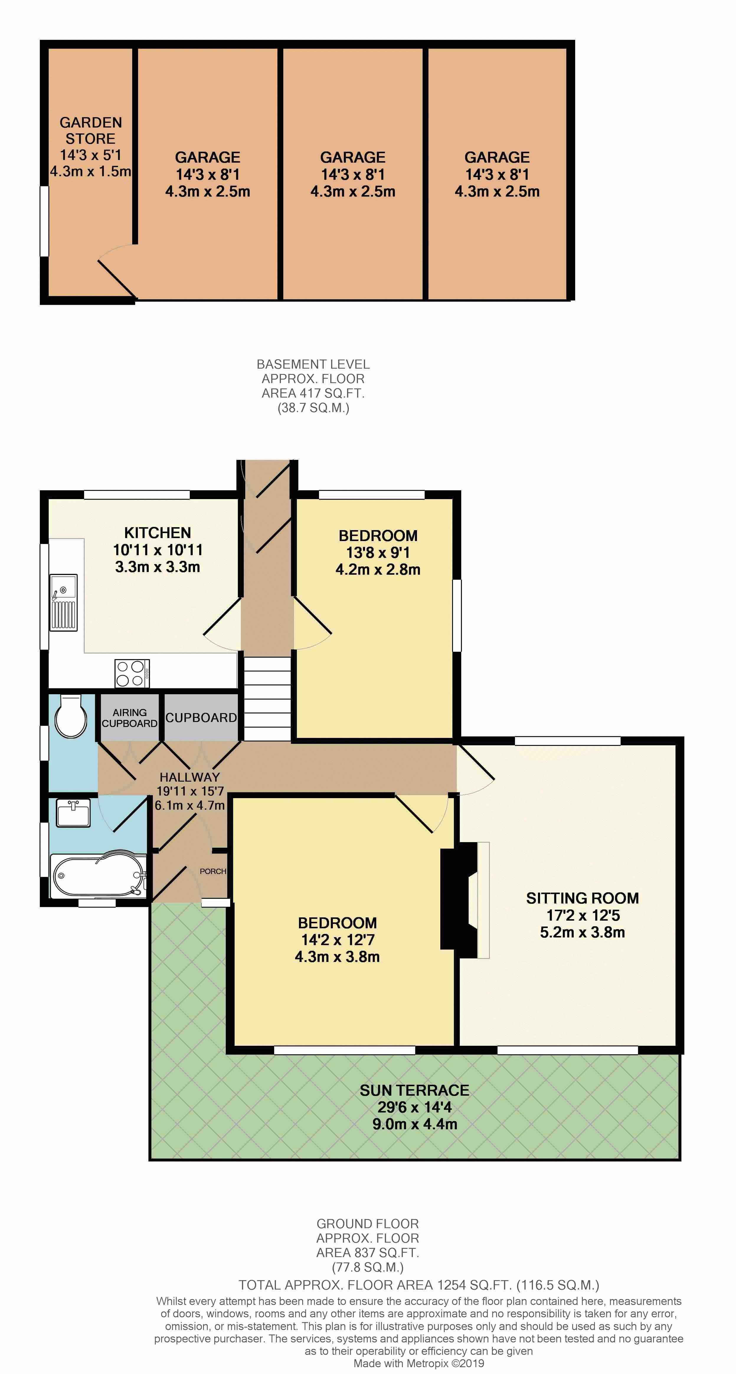 21a Park Gardens Floor Plan Colour